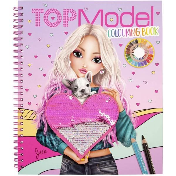 Альбом TOPModel для раскрашивания с пайетками - 0411146