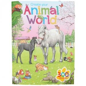 Альбом с наклейками Creative Studio Мир животных - 11147