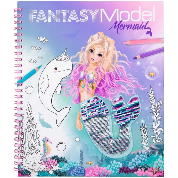 Альбом TOPModel Fantasy для раскрашивания с пайетками Русалка - 0411153 производства Depesche