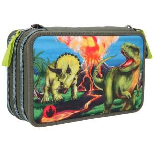 Пенал Dino World с наполнением, LED - 11460_А производства Depesche