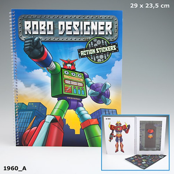 Альбом с наклейками Creative Studio Роботы - 1960 производства Depesche