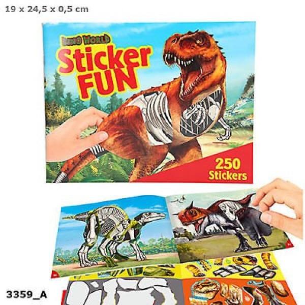 Альбом с наклейками Создай Динозавра Dino World - 3359_A