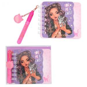 Блокнот TOPModel для записей с ручкой LEO LOVE, мини - 044930/004930 производства Depesche