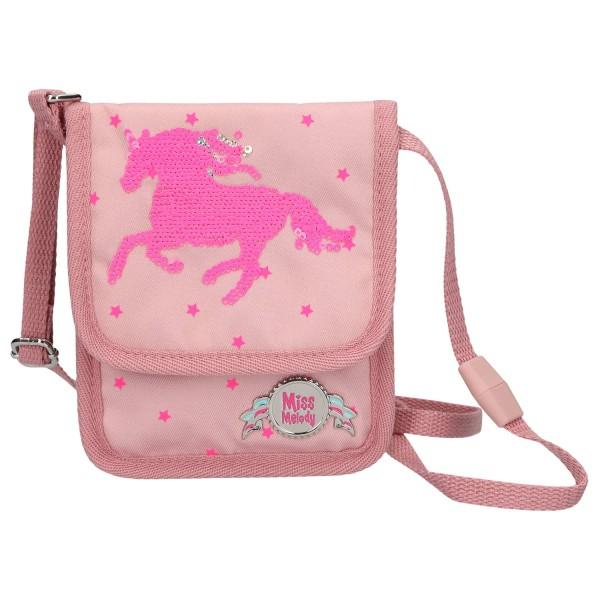 Сумка- кошелек на шею, розовый Miss Melody - 4984_A