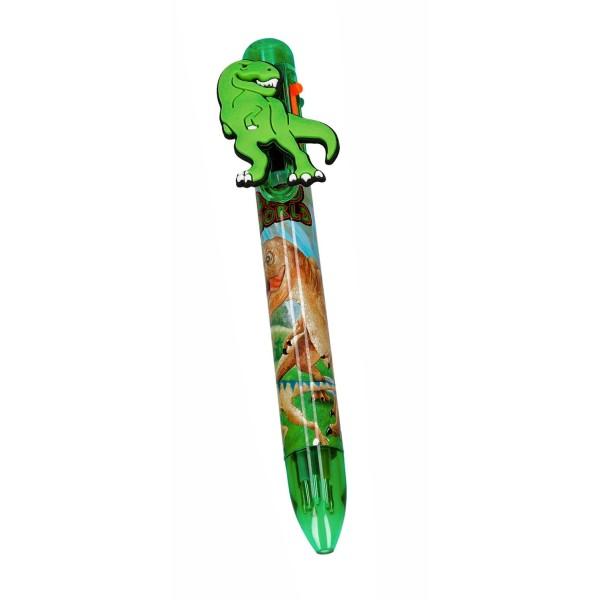 Ручка шариковая 6 цветов Dino World -  5146_A