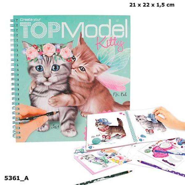 Альбом для раскрашивания TOP Model - Создай Котёнка - 5361_A производства Depesche