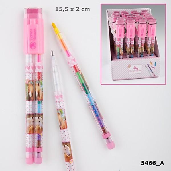Простой и цветной карандаши со сменными стержнями  Horses Dreams 5466 производства Depesche