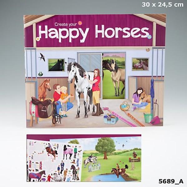 Альбом с наклейками Creative Studio - Создай Веселых лошадей - 5689_A производства Depesche