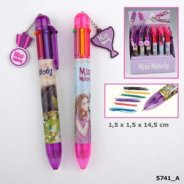 Ручка шариковая 6 цветов Miss Melody - 5741_A