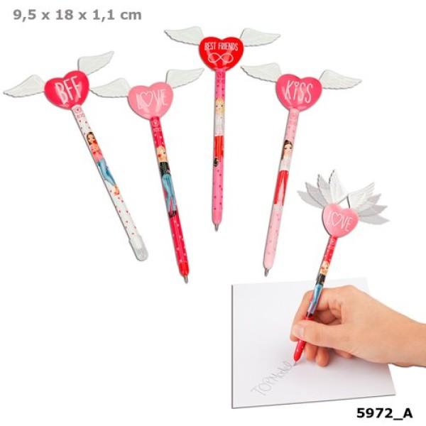 Ручка шариковая с крыльями и сердцем TOPModel - 5972_A производства Depesche