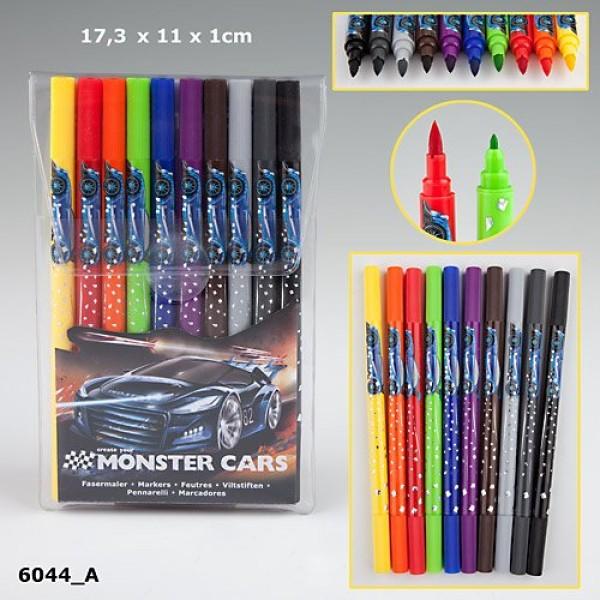 Фломастеры для рисования Monster Cars 6044