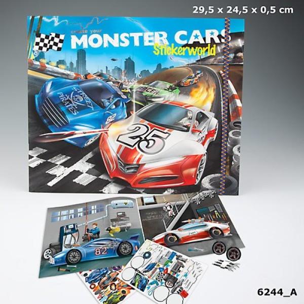 Создай Альбом с наклейками Monster Cars - Крутой автомобиль - 6244_A