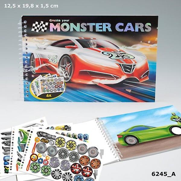 Карманная раскраска Create your Monster Cars - 6245_A