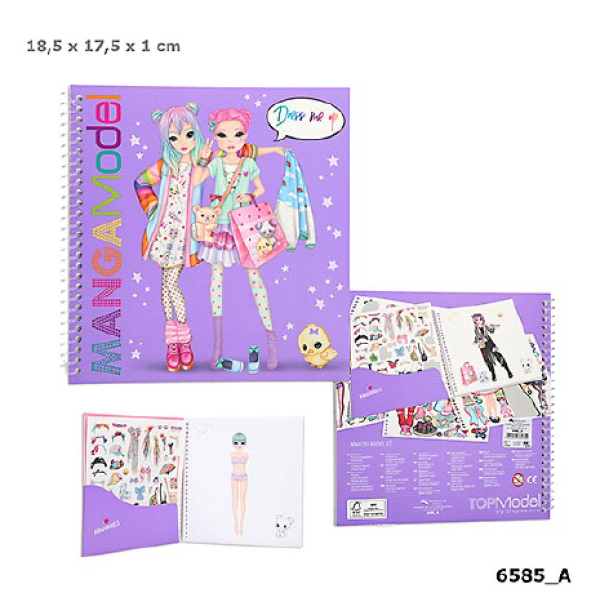 Альбом для раскрашивания Наряди Меня TOPModel Manga - 6585_A производства Depesche