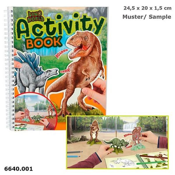 Альбом для игр Динозавры Dino World - 6640_A
