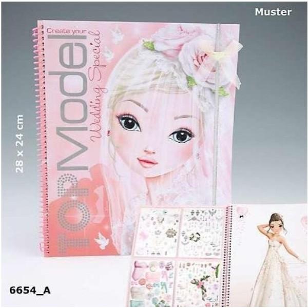 Свадебный альбом для раскрашивания Top Model Wedding Special 6654_A производства Depesche