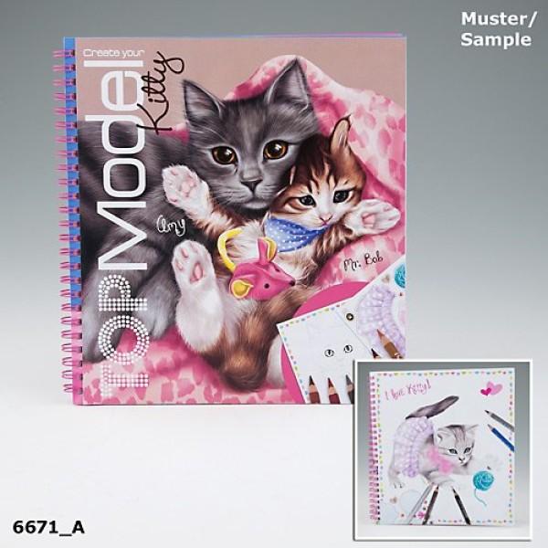 Альбом TOP Model для раскрашивания Милых котят - 6671_A производства Depesche