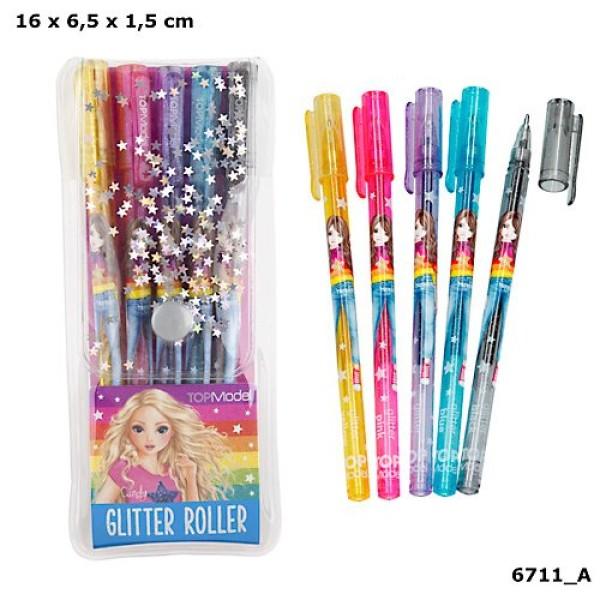 Ручки цветные с блестками,гелевые TOPModel - 6711_A