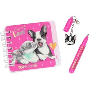 Блокнот TOPModel для записей с ручкой DOG, мини - 046733/006733 производства Depesche
