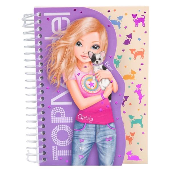 Карманная раскраска фиолетовая с блокнотом TOPModel - 6827_R (Christy)                    производства Depesche