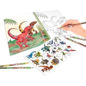 Альбом Dino World для раскрашивания с набором цветных карандашей - 6852 производства Depesche