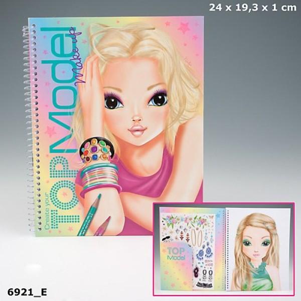 Раскраска для девочек с наклейками TOP Model Make Up 6921_E производства Depesche