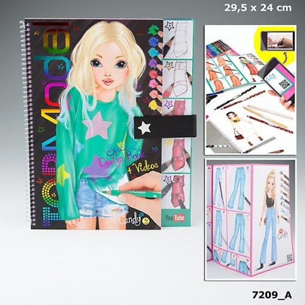 Разукрашка TOP Model с наклейками и уроками YouTube -7209 производства Depesche