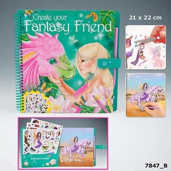 Раскраска с наклейками и волшебным маркером Fantasy Friend - 7847_B производства Depesche
