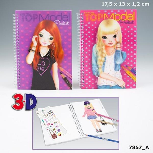 Карманный альбом для рисования с 3D обложкой и наклейками TOP Model Pocket  7857_A производства Depesche