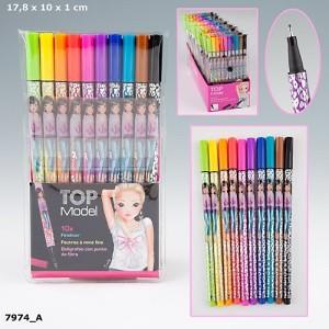 Цветные капиллярные ручки с чернилами TOPModel 7974