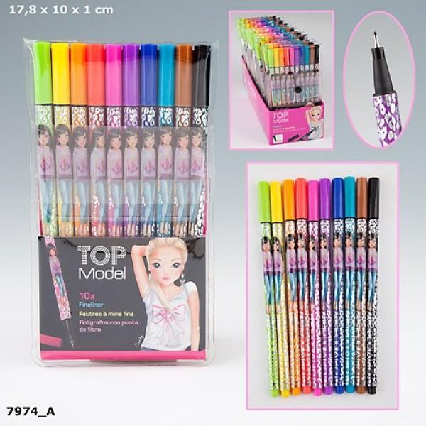 Цветные капиллярные ручки с чернилами TOPModel 7974 производства Depesche