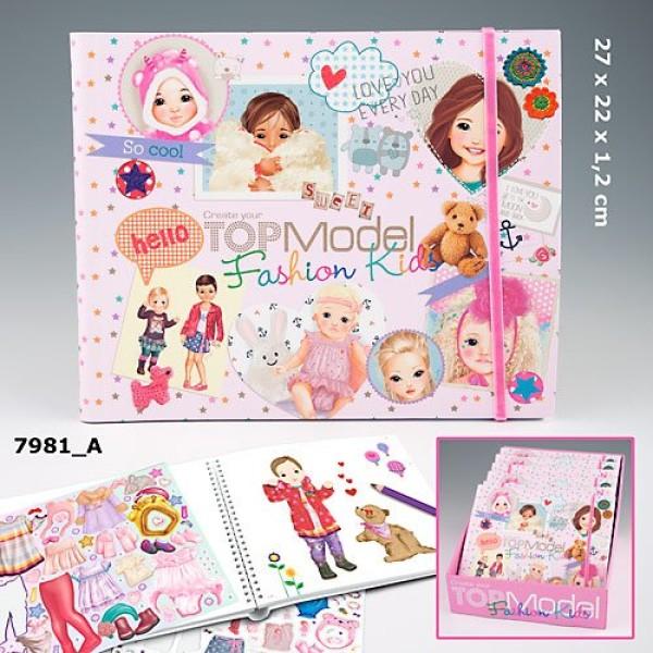 Раскраска с наклейками  для детей TOP Model Fashion Kids 7981_A
