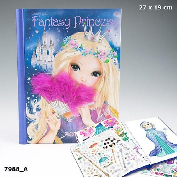 Раскраска с наклейками Создай свою принцессу  (Fantasy princess) 7988_A