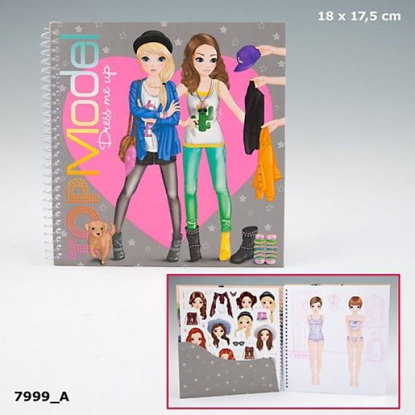 Альбом для девочек с наклейками TOP Model Dress Me Up - Одень меня 7999_A производства Depesche