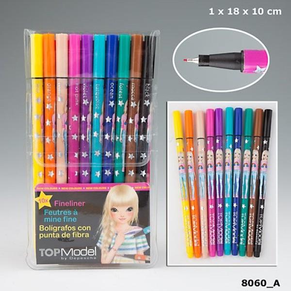 Набор цветных ручек-маркеров TOP Model, с уроками на YouTube - 8060 производства Depesche