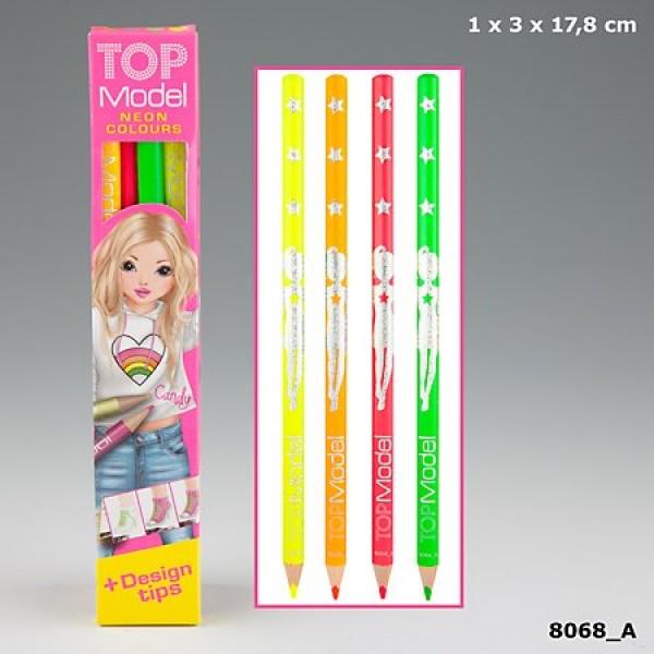 Карандаши цветные TOPModel  Неон - 8068_A