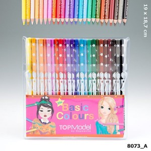 TOPModel Набор цветных карандашей 24 цвета, с уроками на YouTube - 8073_A