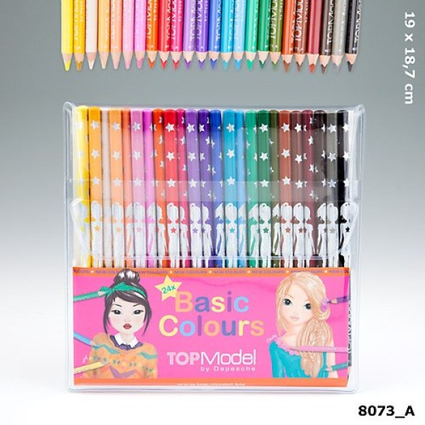 Набор цветных карандашей TOPModel 24 цвета, с уроками на YouTube - 8073_A производства Depesche