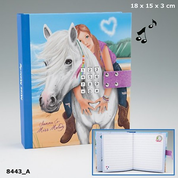 Дневник с кодом и музыкой, голубой Miss Melody - 8443_A