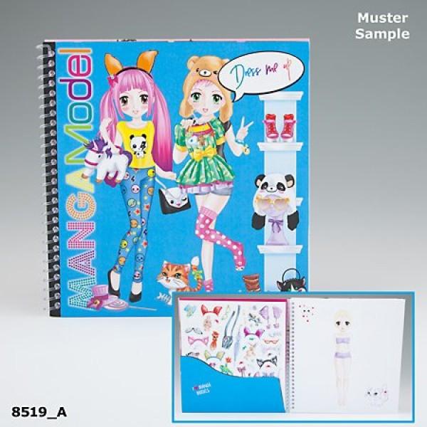 Альбом с наклейками TOPModel Manga Наряди меня - 8519_A производства Depesche