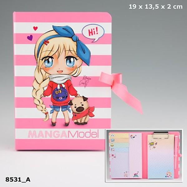 Папка с зажимом и набором для записей  Manga Model - 8531_A