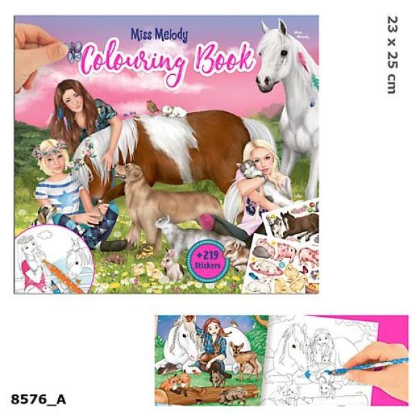 Альбом для раскрашивания Животные Miss Melody - 8576_A