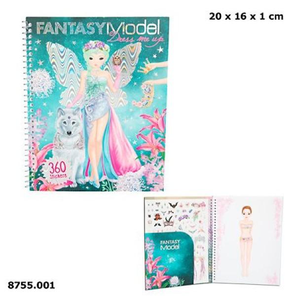Альбом для раскрашивания TOP Model Fantasy Наряди меня - 8755.001