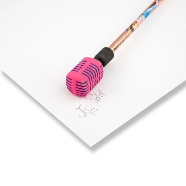 Карандаши с розовым ластиком в виде микрофона POPSTAR Top Model - 8796_B