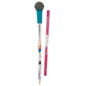 Карандаши с синим ластиком в виде микрофона POPSTAR Top Model - 8796_B