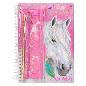 Блокнот для записей с набором канцелярии Miss Melody - 8942_A
