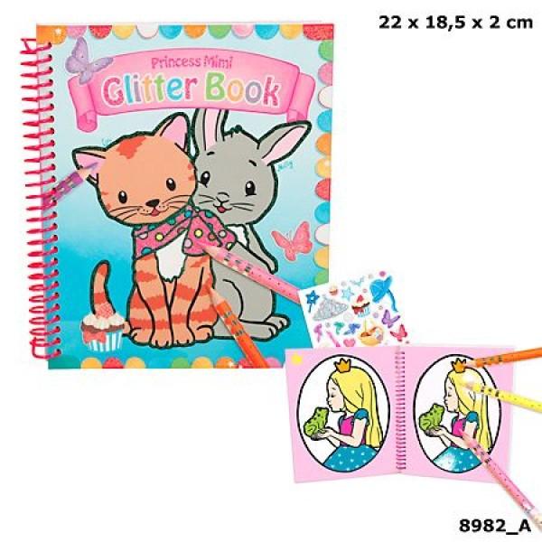 Альбом для раскрашивания с блестками Princess Mimi Альбом - 8982_A