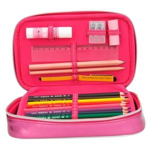 Пенал с наполнением Друзья, 2 отд,розовый TOPModel - 8997_A производства Depesche
