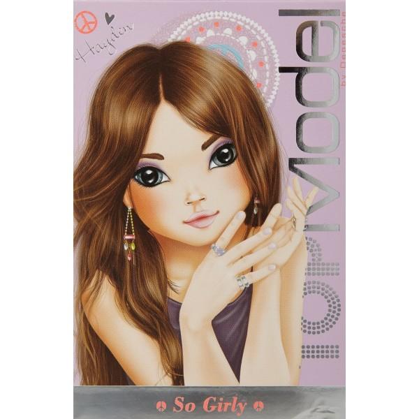 Туалетная вода для девочек  HAYDEN « TOPModel So Girly » 50 ml + наклейки (TM03) производства KOTO France