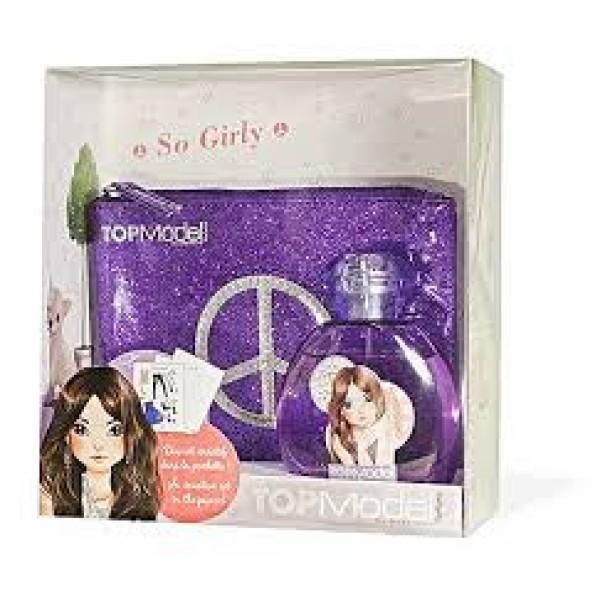 "Туалетная вода для девочек  TOP Model Hayden ""So Girly"" 50 ml + фиолетовая сумочка + креативный набор (TM12)"